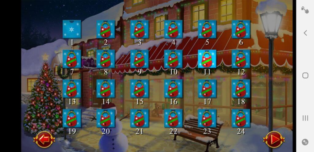 Best Christmas Solitaire Apps - Santa's Christmas Solitaire TriPreaks - 24 Wintery Sceneries