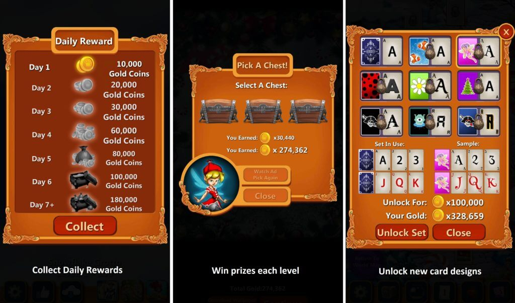 Best Christmas Solitaire Apps-Solitaire Quest: Santa's Winter Wonderland Prizes