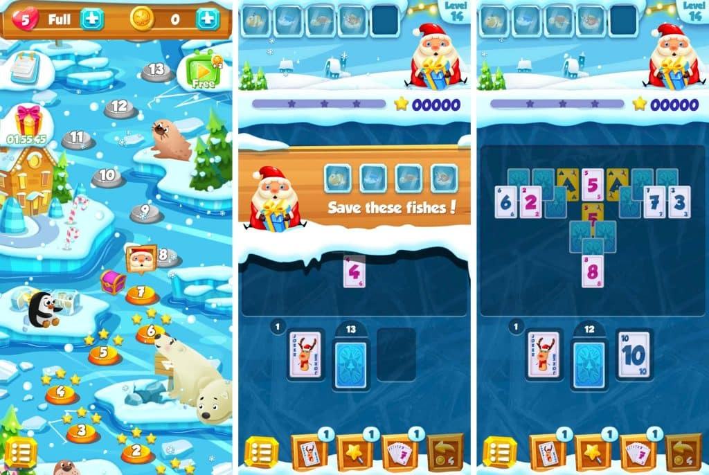 Best Christmas Solitaire Apps - Winter Solitaire: Levels and In-game UI