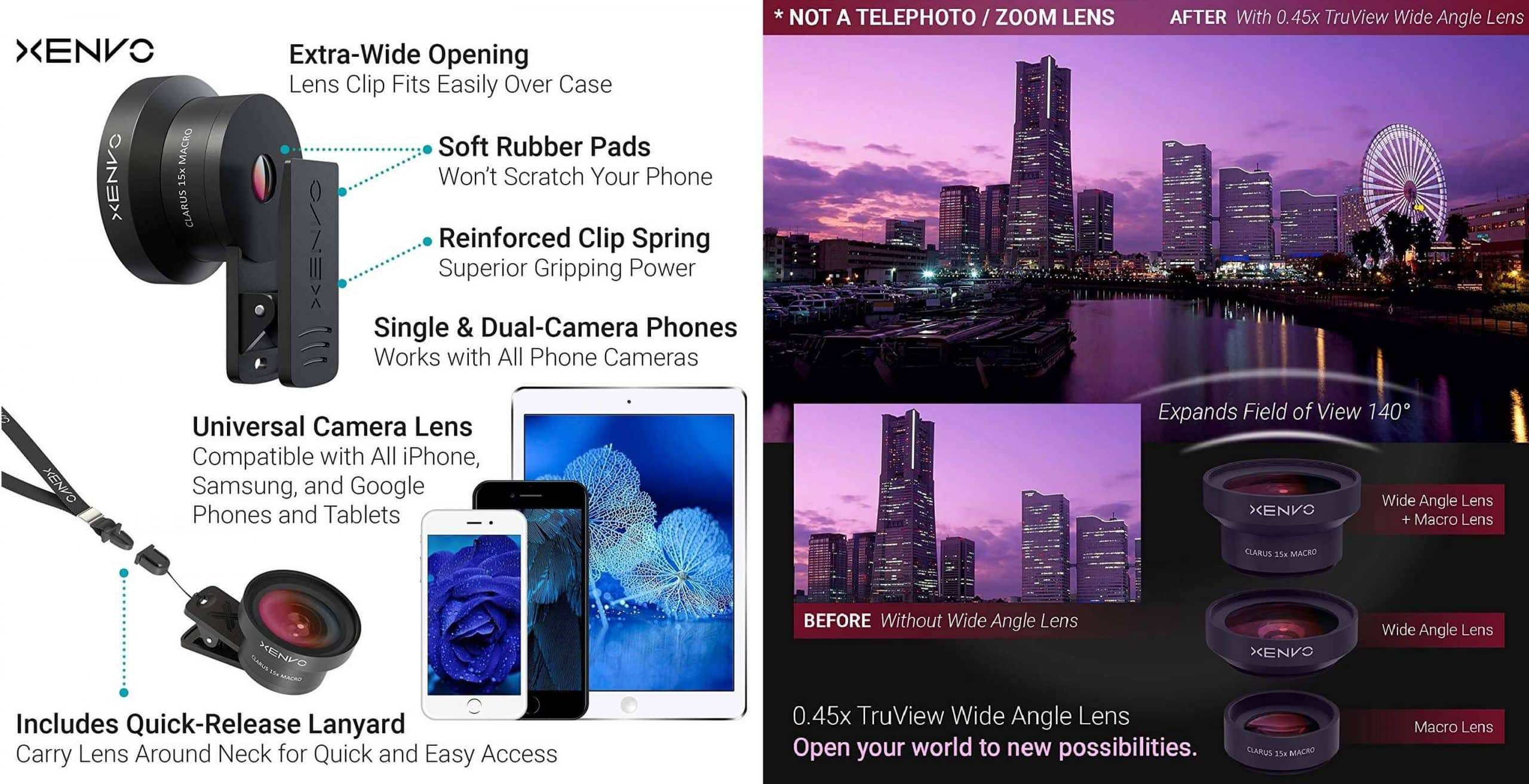 Android Camera Lens: Xenvo Pro Lense Kit Feature