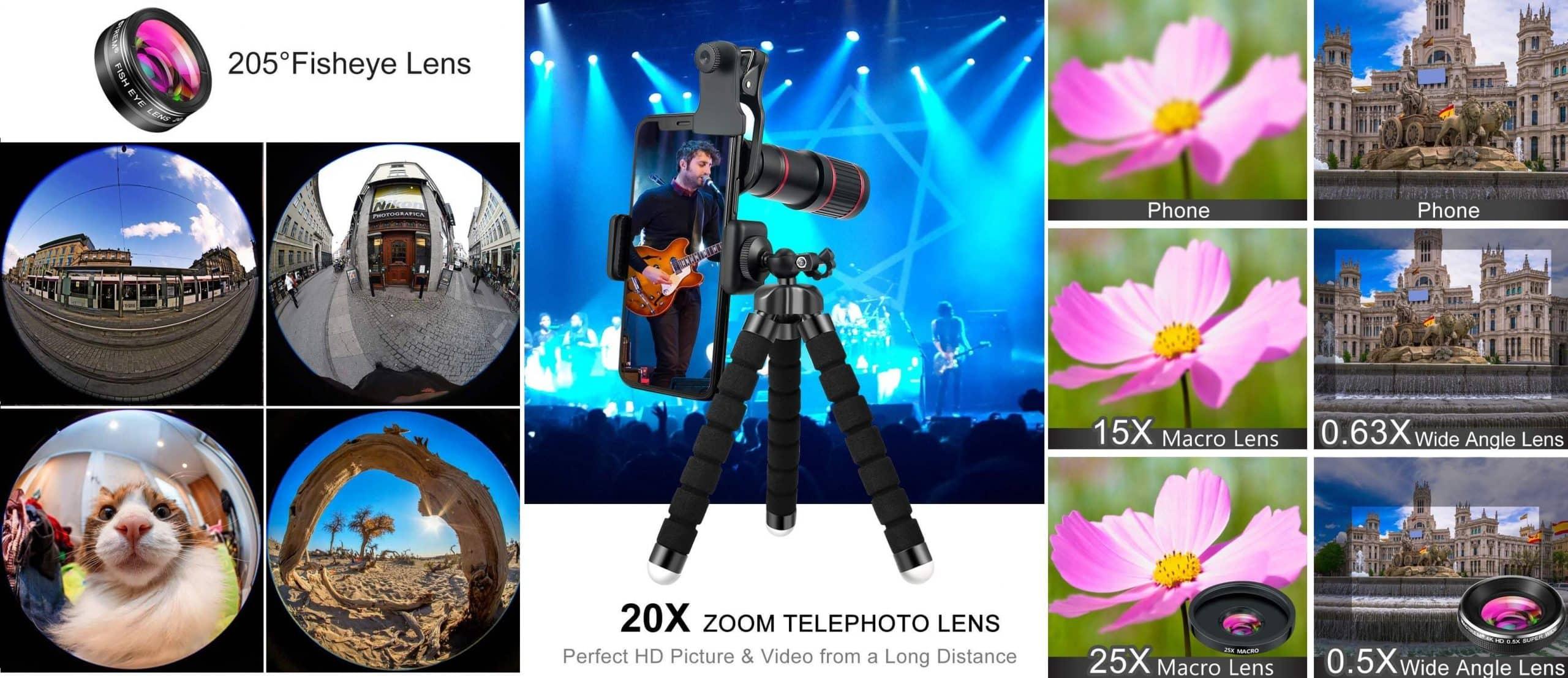 Best Camera Lens for Android: MACTREM 9-piece Lens Kit Sample Photos