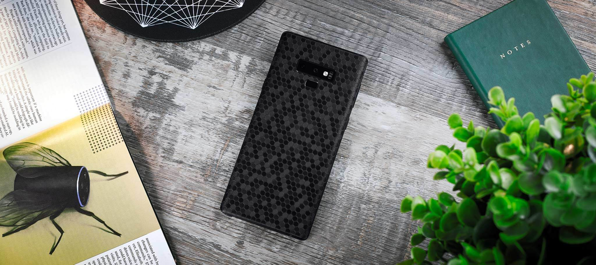 Samsung Galaxy Note 9 Phone Case Black Honeycomb