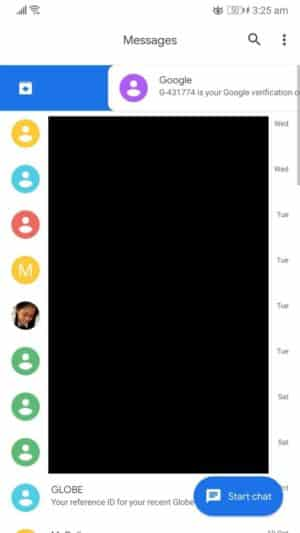 Slide right or long-press to hide SMS on Android