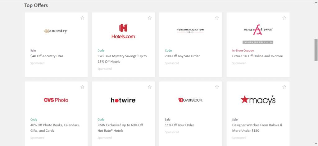 RetailMeNot Partner Stores