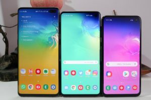 Three screen size options for the Galaxy S11