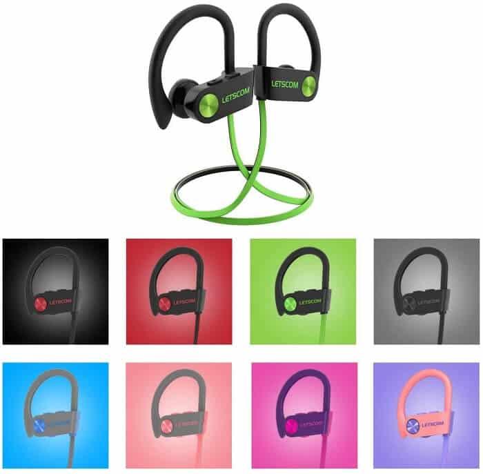 Best Android Headphones, Earphones, and Earbuds - LETSCOM Waterproof Sport Earphones