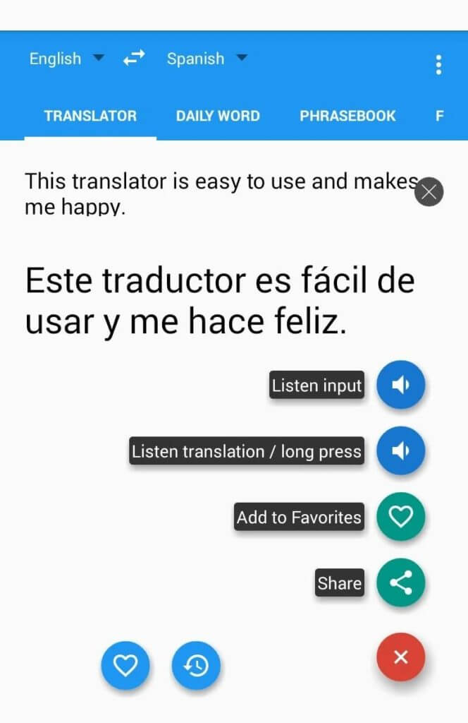 Spanish English Translator GreenLife Apps 1