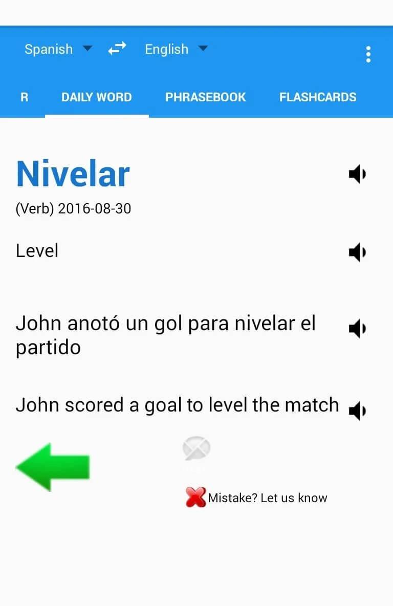 Spanish English Translator GreenLife Apps 1