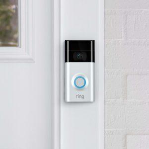 Ring Video Doorbell Attached to a Door