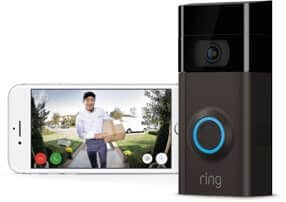 Ring Video Doorbell being used through a Phone