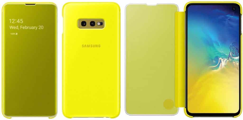 Best Samsung Galaxy S10+ Phone Cases - Clear View Flip Cover Case