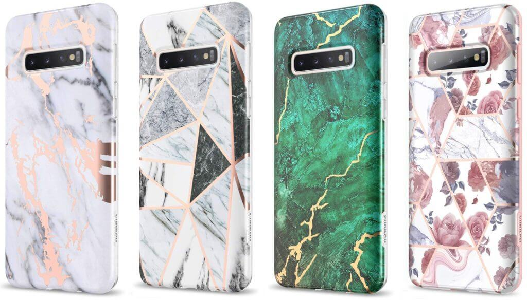 Best Samsung Galaxy S10+ Phone Cases - SURITCH Marble Full-body Case Colors and Designs