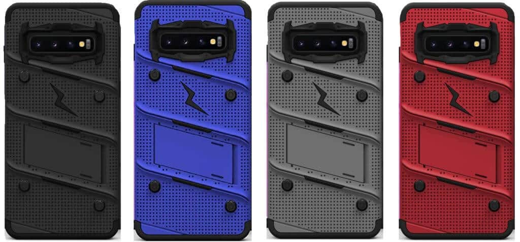 Best Samsung Galaxy S10+ Phone Cases - Available Colors of the Zizo Bolt Series