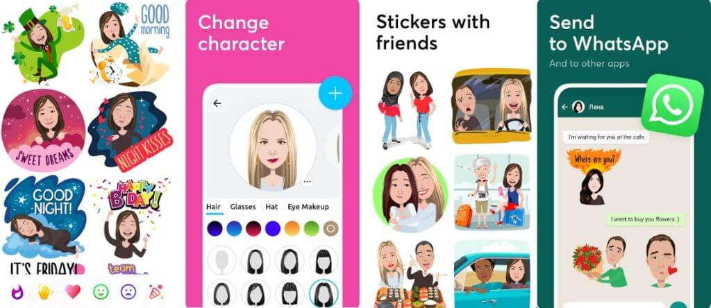 Best Animoji Apps for Android- Mirror Avatar Maker