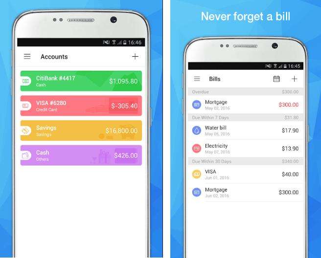 Best Expense Report App - Pocket Expense (Android)