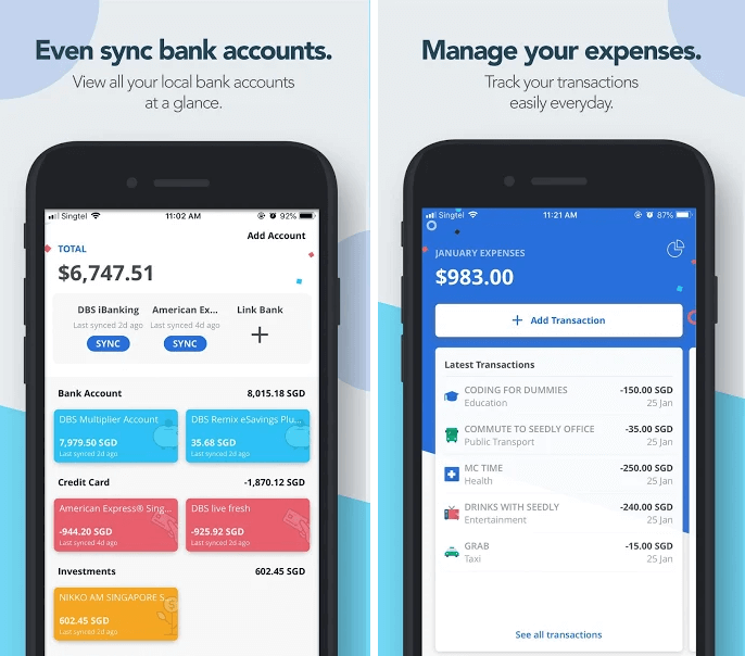 Best Expense Report App - Seedly (Android)