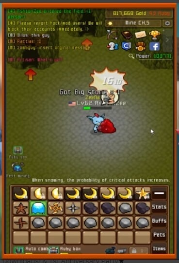 Best MMORPGs for Android - Grow Stone Online Gameplay