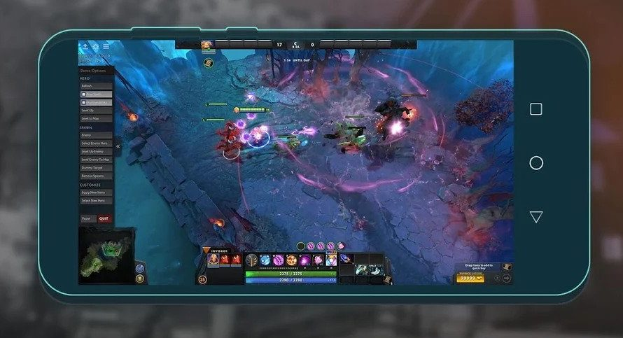 Playing Dota 2 by cloud gaming on Android with Netboom