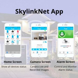 Best Google Compatible Home Security Systems for 2019: SkylinkNet SK-250 Alarm Automation System App