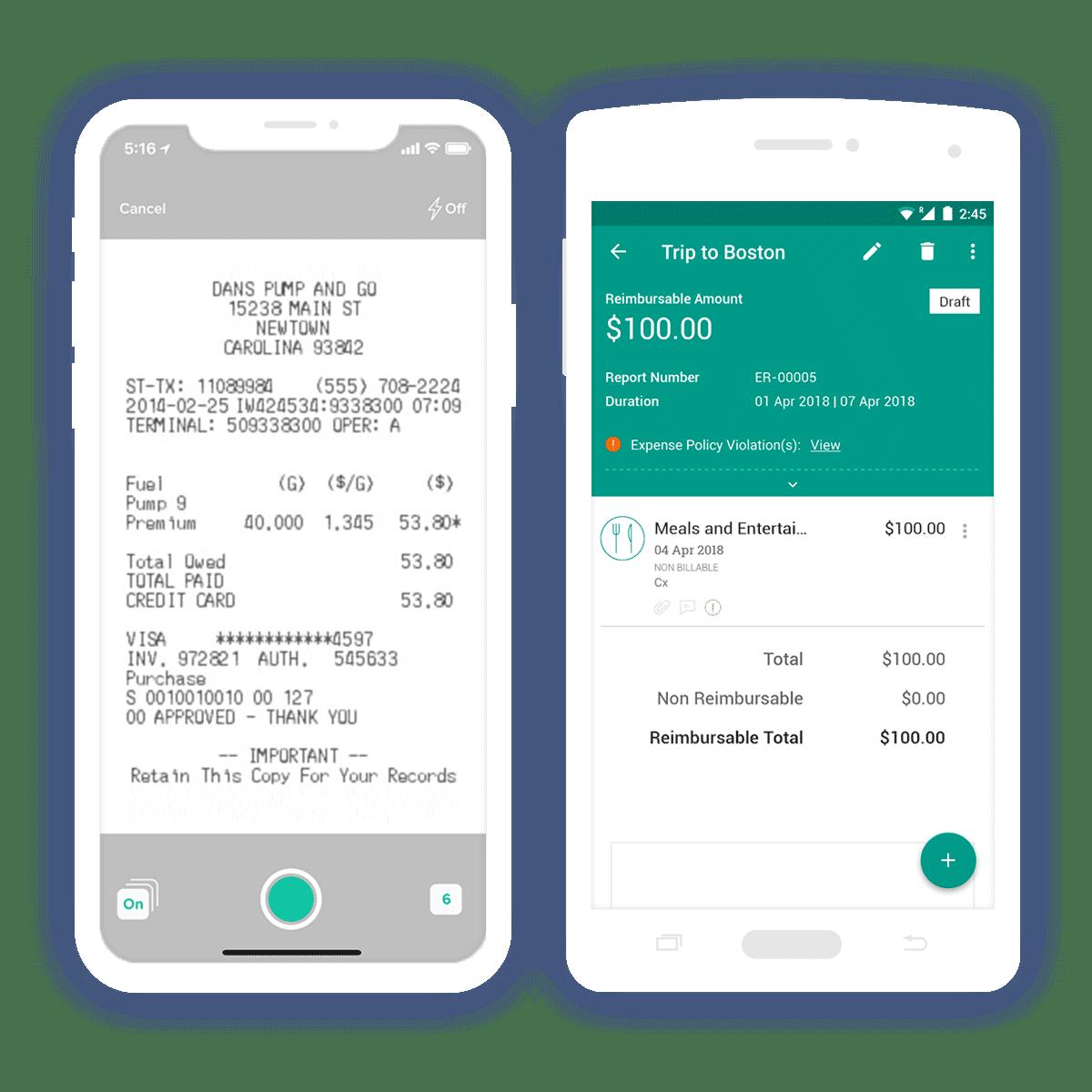 Zoho Expense Tracker Reading Receipts
