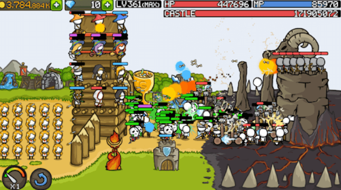 grow castle tower defense game