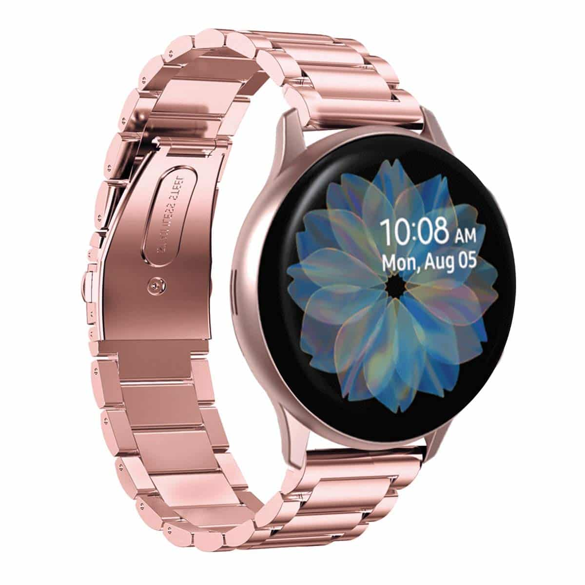 Must-Have Accessories for Samsung Galaxy Watch Active2 - Aresh Stainless Steel Strap
