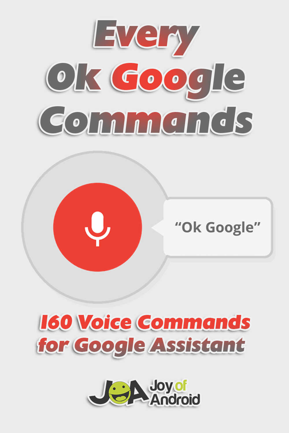 Ok Google Commands - First Image