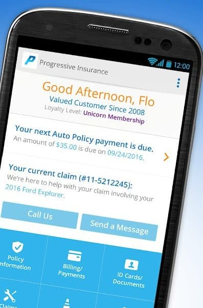 Best Auto Insurance Apps for Android - Progressive Dashboard