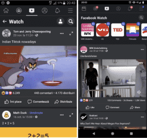 Photo credits from users who have tested the dark mode feature on the Facebook Android app