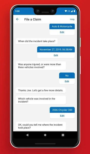 Best Auto Insurance Apps for Android - State Farm Claim