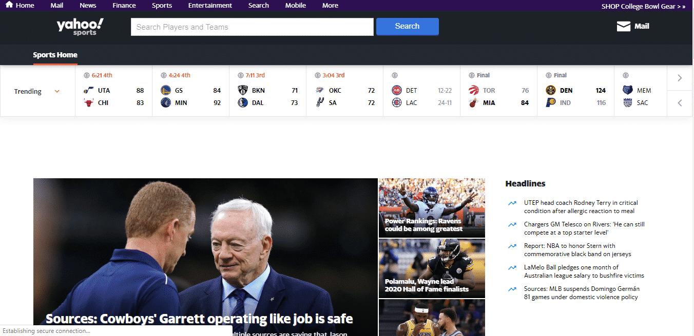 Vizio Smart TV Apps Yahoo Sports