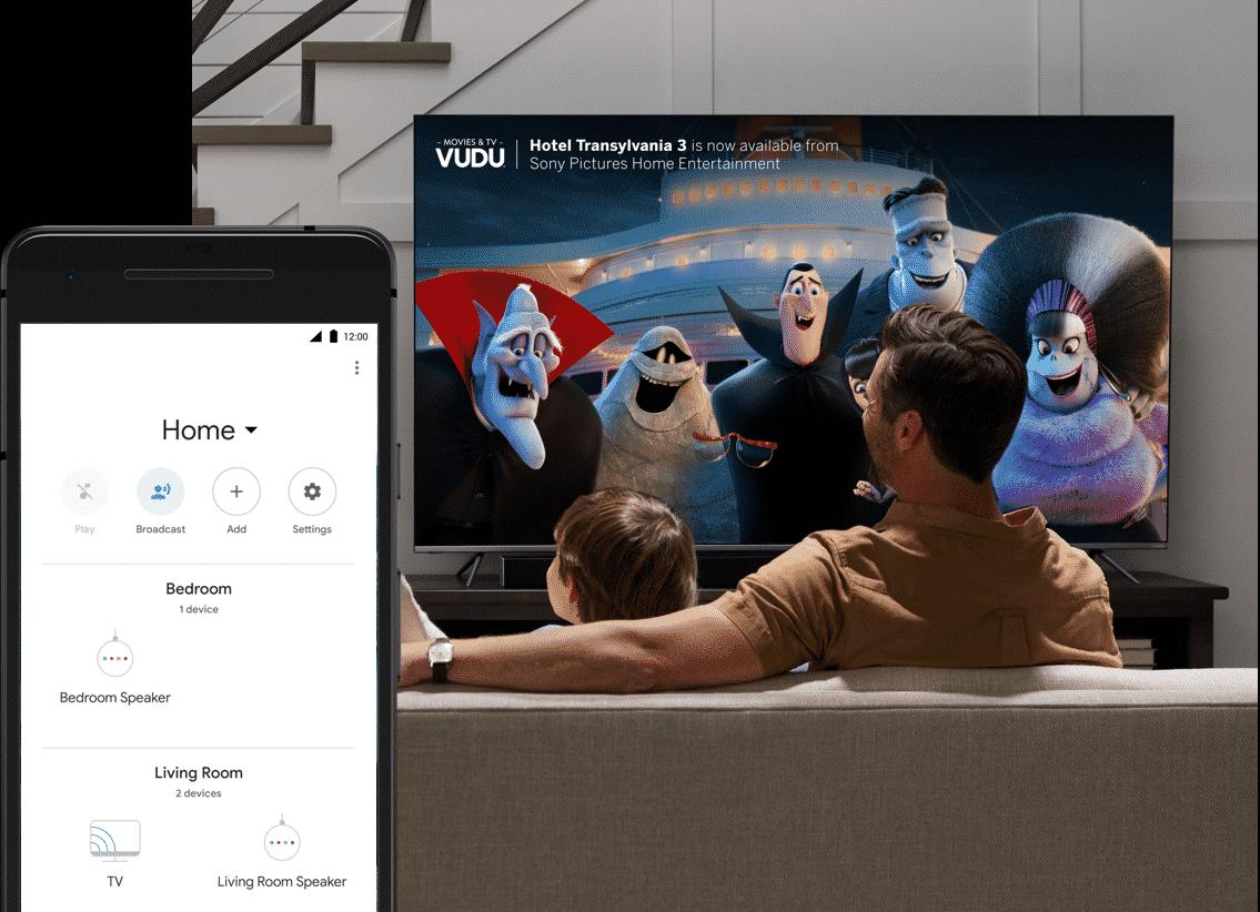 VIZIO TV connected to Google Home