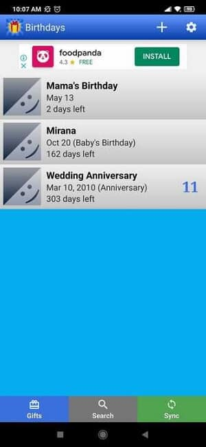Birthday Reminder Apps - Birthdays for Android