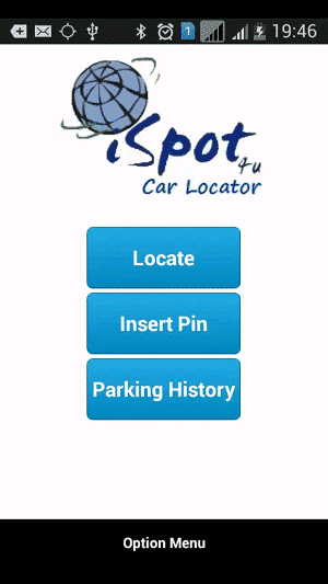 car locator app: car locator app interface
