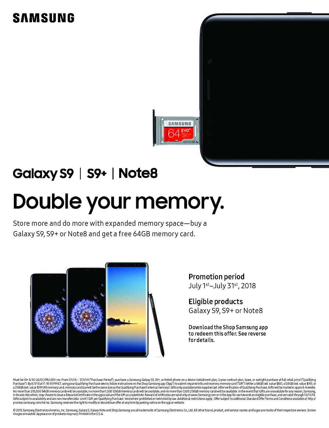 Double Your Samsung Galaxy S9's Memory