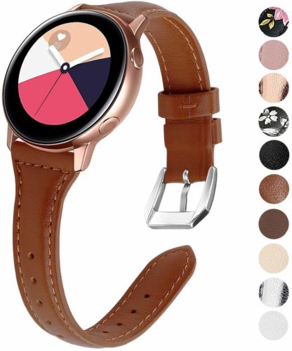 ezco leather band for samsung galaxy watch active