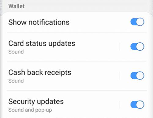 get cash back notifications