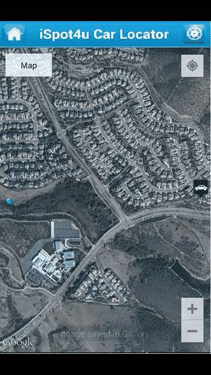 car locator app: map view