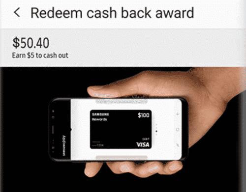 redeem cash back award