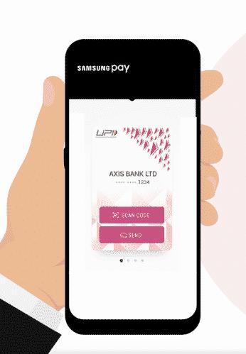 use upi via samsung pay mini