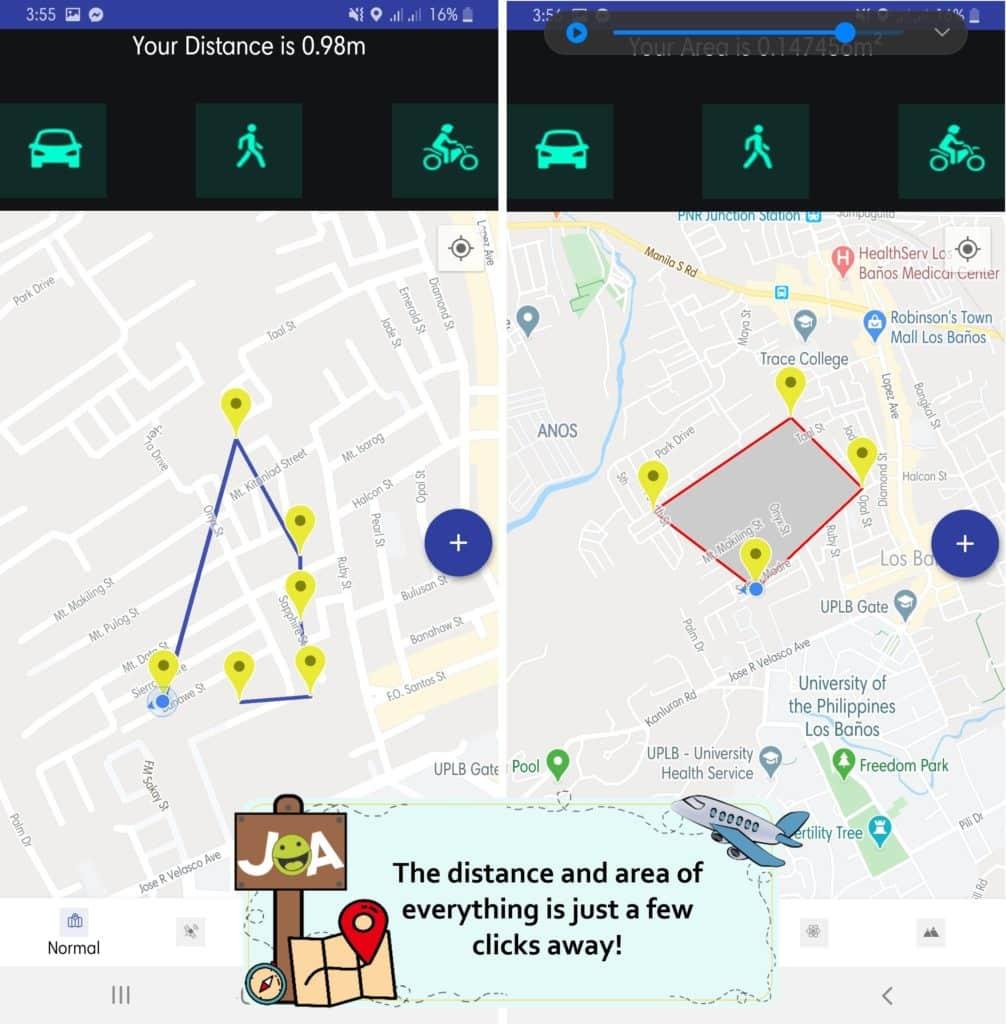 Area Calculator & Distance Measurement App Features