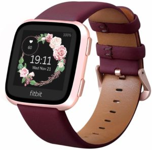 Best Android-Compatible Fitbit Watch Bands – KADES Leather Band Replacement