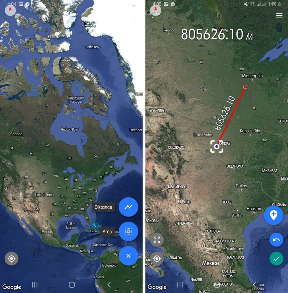 Distance & Area Measure Countries