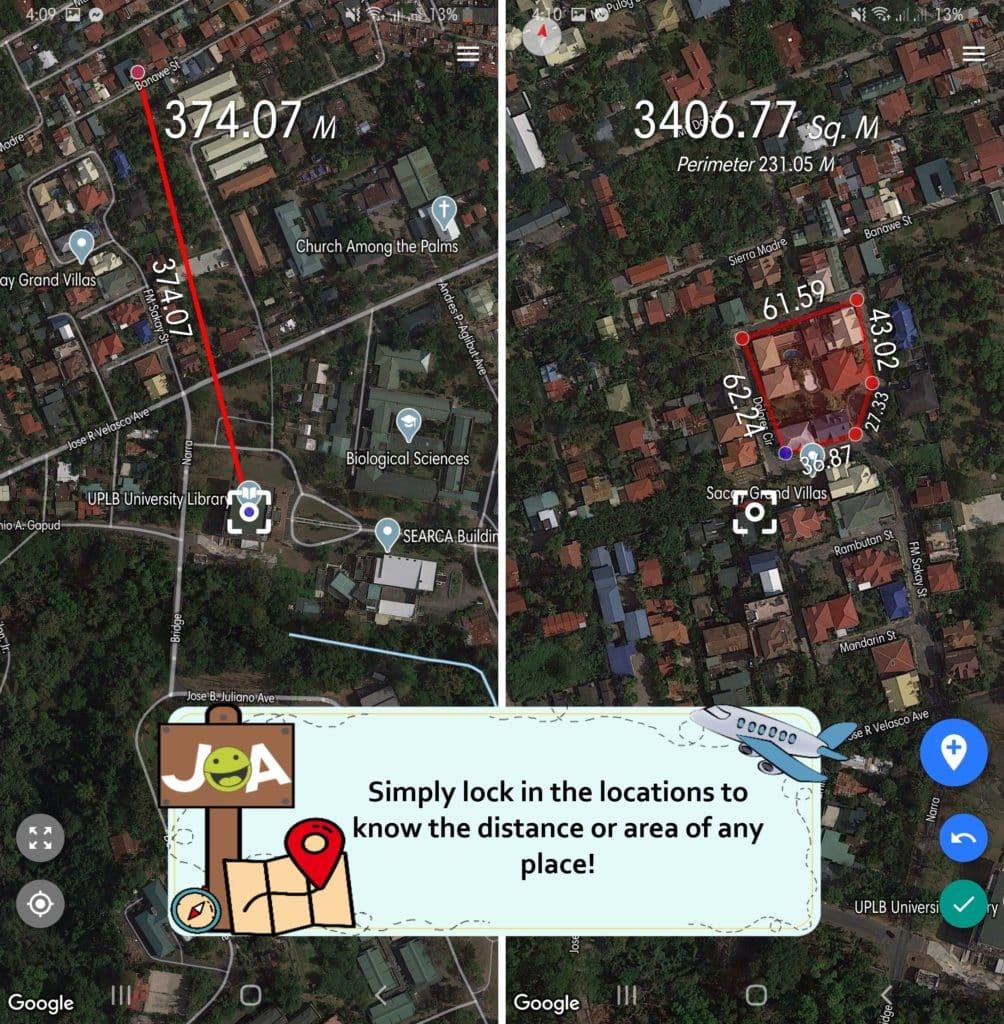 Distance & Area Measure Places