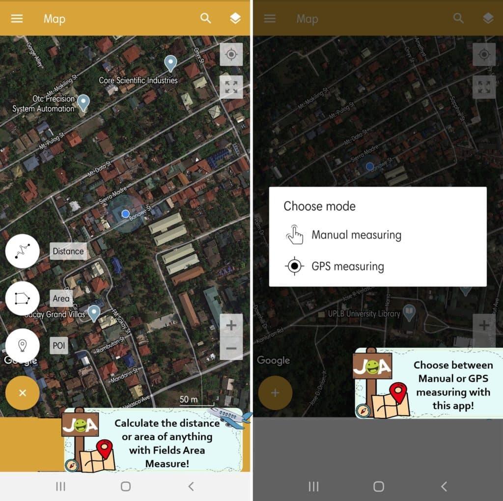 Fields Area Measure Free Manual GPS Measure