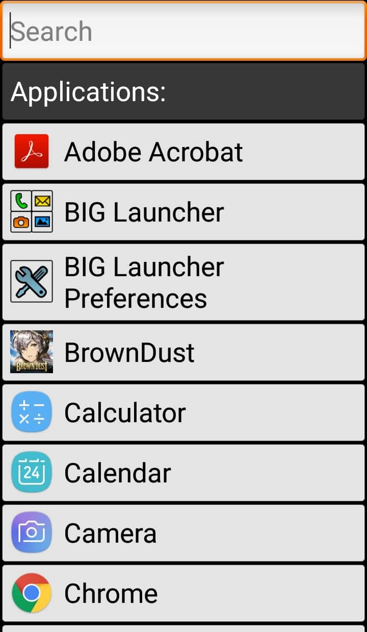 Best Android Launcher for Seniors - BIG Launcher App Search