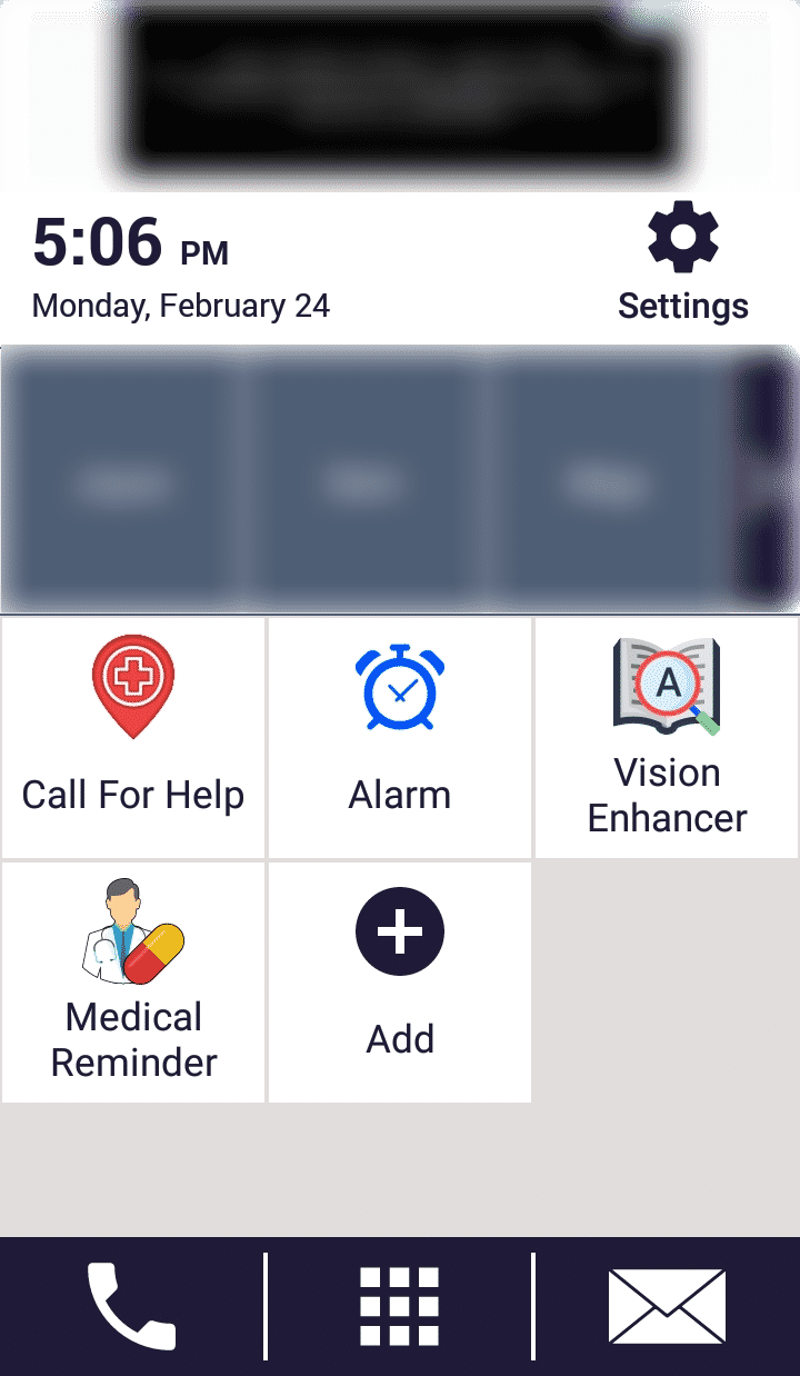 Best Android Launcher for Seniors - Senior Safety Phone Home Screen