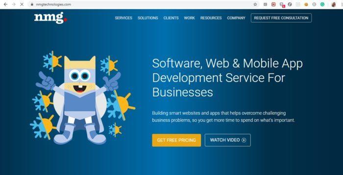 app development companies NMG Website