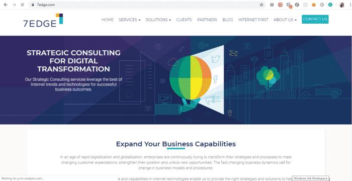 app development companies 7EDGE website