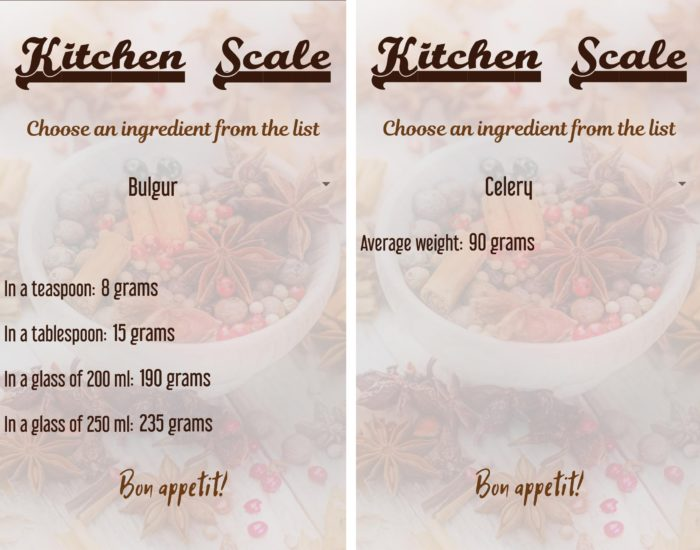 digital food scale app kitchen scale app